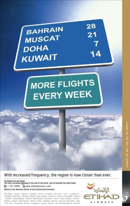 Etihad airways frequency